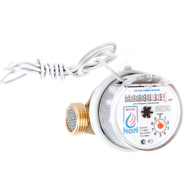 Счетчик воды универсальный ЭКО НОМ-СВ-15-80И